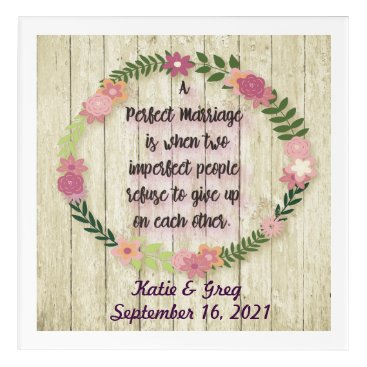 Beach Themed Personalized Wedding Gift Wall Art w/ Love Quote