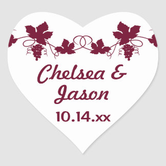 Personalized Wedding Grapevine Wine Stickers