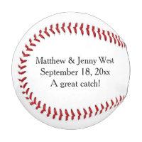 Personalized Wedding Groomsmen Ring Bearer Baseball