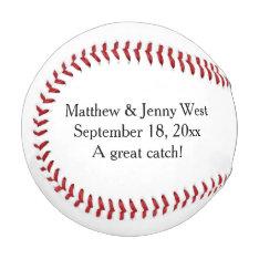 Personalized Wedding Groomsmen Ring Bearer Baseball at Zazzle