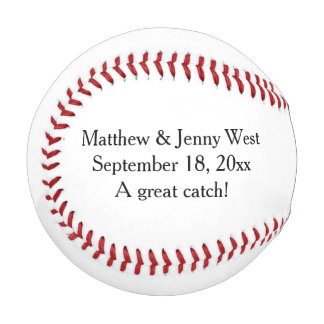 Personalized Wedding Groomsmen Ring Bearer Baseball