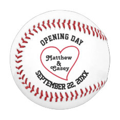 Personalized Wedding Groomsmen Ring Bearer Favor Baseball at Zazzle