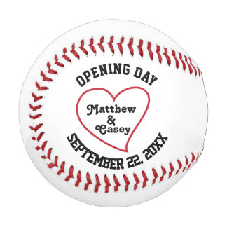 Personalized Wedding Groomsmen Ring Bearer Favor Baseball
