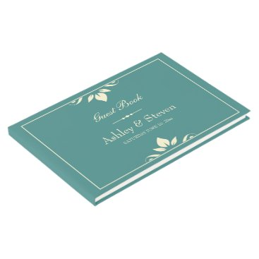 Wedding Themed Personalized Wedding Guest Book