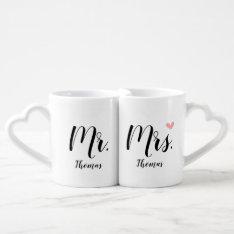Personalized Wedding / Newlywed Gift - Mr. & Mrs. Coffee Mug Set at Zazzle