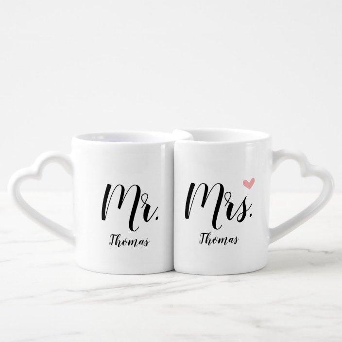 Personalized Wedding Newlywed Gift Mr Mrs Coffee Mug Set Zazzle Com