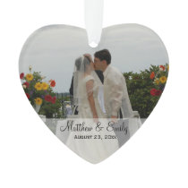 Personalized Wedding or Engagement Photo Ornament