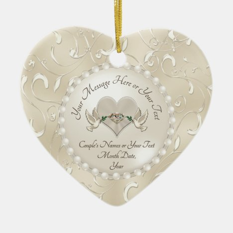 Personalized Wedding Ornament Anniversary Ornament