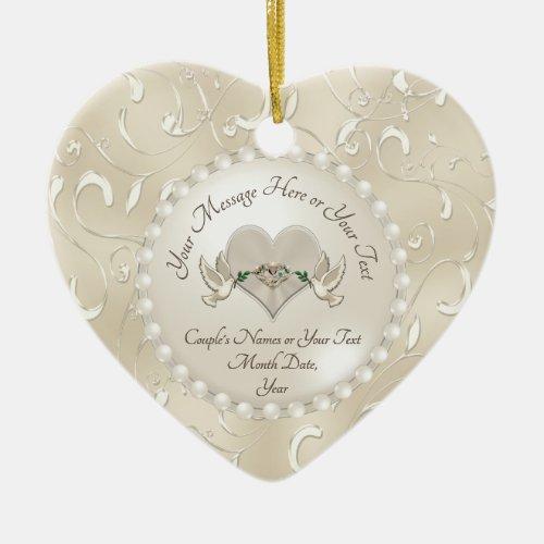 Personalized Wedding Ornament Anniversary Ornament