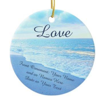 Personalized Wedding Ornaments, Beach Ornaments