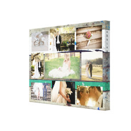 Personalized Wedding Photo Collage Wall Art
