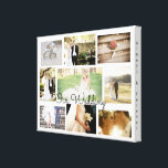 "Personalized Wedding Photo Collage Wall Art White<br><div class=""desc"">Just add your favorite wedding and reception pictures in the customize area.  white background. &quot;always and forever&quot;</div>"