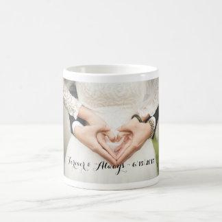 Personalized Wedding Photo Forever & Always Mug