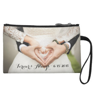 Personalized Wedding Photo Forever & Always Wristlet