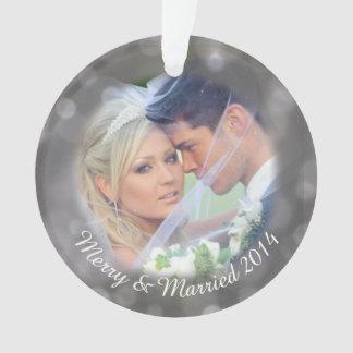 Personalized Wedding Photo Holiday Ornament