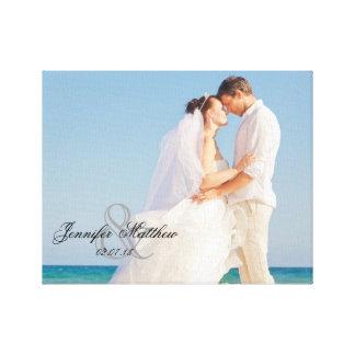 Personalized Wedding Photo Keepsake Canvas Print