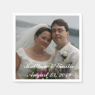 Personalized Wedding Photo Napkins Standard Cocktail Napkin
