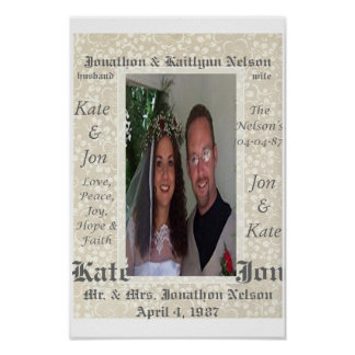 Personalized Wedding Photo Poster