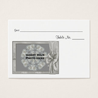 Personalized Wedding Photo Table Place Cards #3