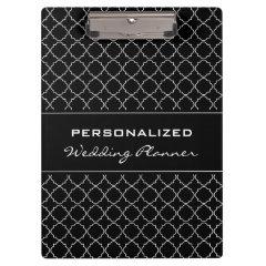 Personalized wedding planner clipboard | Elegant