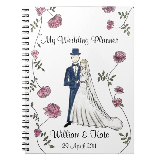 Personalized Wedding Planner Notebook