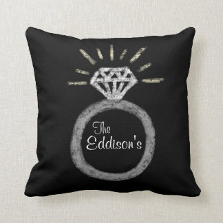 Personalized Wedding Ring Family Pillow