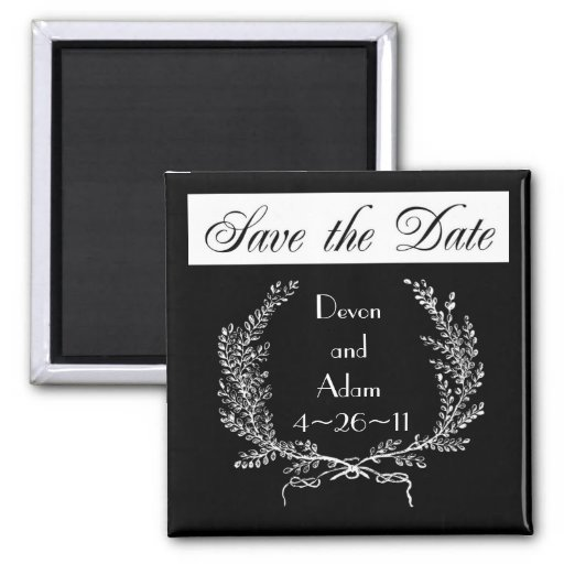 Personalized Wedding Save the Date Magnets