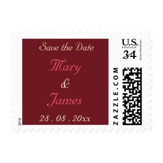 Personalized Wedding Save the Date Postage Stamp