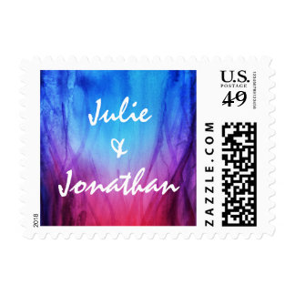 Personalized Wedding Stamps Postage | Fire & Ice