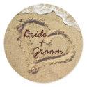 Personalized Wedding Stickers sticker