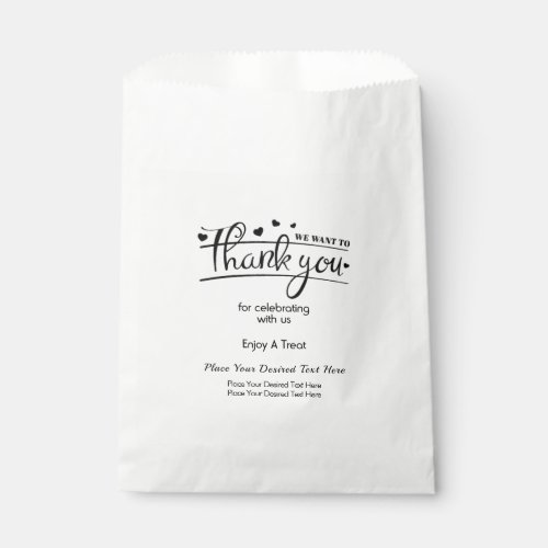 Personalized Wedding Thank You Treat Favor Bags