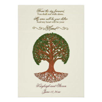 Personalized Wedding Tree Print