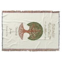 Personalized Wedding Tree Throw Blanket