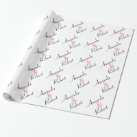 Personalized Wedding Wrapping Paper
