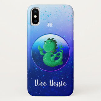Personalized Wee Nessie Waves Hello! iPhone X Case