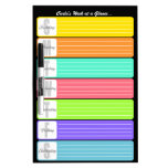 Personalized Weekly Reminder Dry Erase Whiteboard