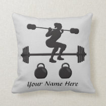 Personalized Weightlifter Gifts Pillow for HER
