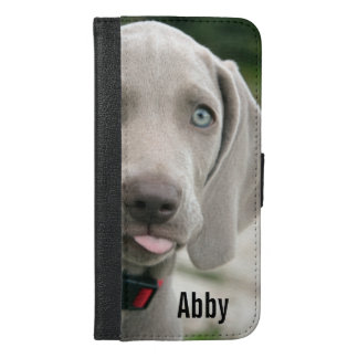 Personalized Weimaraner Dog Photo and Dog Name iPhone 6/6s Plus Wallet Case