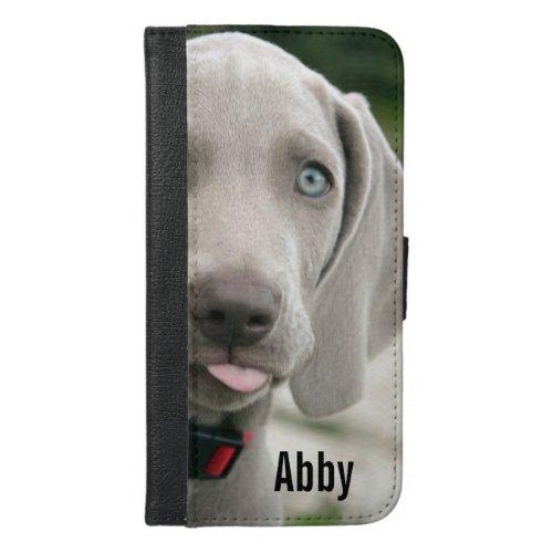 Personalized Weimaraner Dog Photo and Dog Name Phone Case