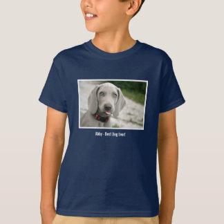 Personalized Weimaraner Dog Photo and Dog Name T-Shirt