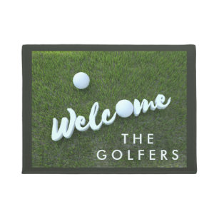 Gentil Personalized Welcome Doormat For The Golfers