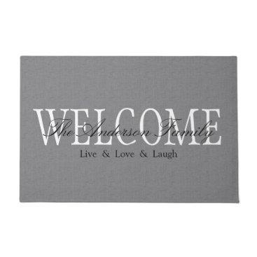 hacheu Personalized Welcome Grey Doormat