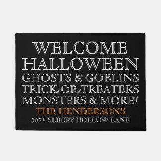 Personalized Welcome Halloween Doormat