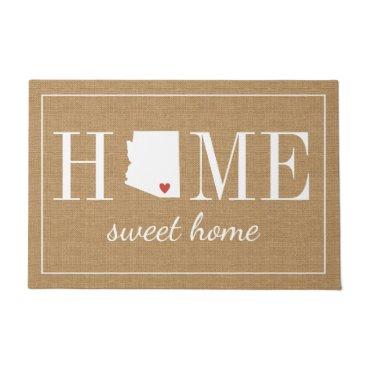 hacheu Personalized Welcome Home Arizona Jute Doormat