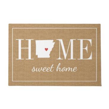 hacheu Personalized Welcome Home Arkansas Jute Doormat