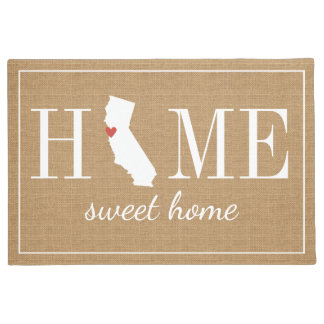 Personalized Welcome Home California Jute Doormat
