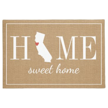 hacheu Personalized Welcome Home California Jute Doormat