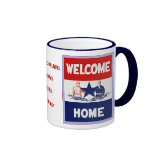 Personalized Welcome Home Ringer Coffee Mug