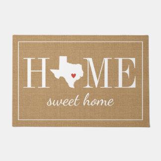Personalized Welcome Home Texas Jute Doormat
