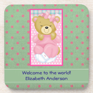 Personalized Welcome to the World Baby Coaster